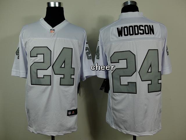 ... closeout mens nfl oakland raiders 24 woodson white elite jersey c0133  b55d6 7391b7115