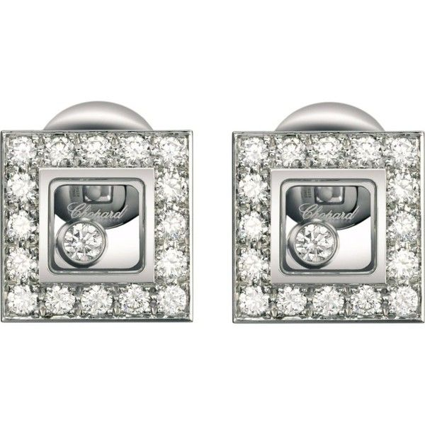 Happy Diamonds Icons 18ct white-gold and diamond earrings (€6.360) ❤ liked on Polyvore featuring jewelry, earrings, womens jewellery, white gold earrings, diamond earrings, white gold diamond earrings and diamond jewellery