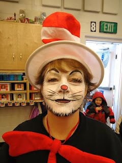 db96dc44 cat in the hat | Face painting ideas | Halloween Makeup, Dr seuss ...