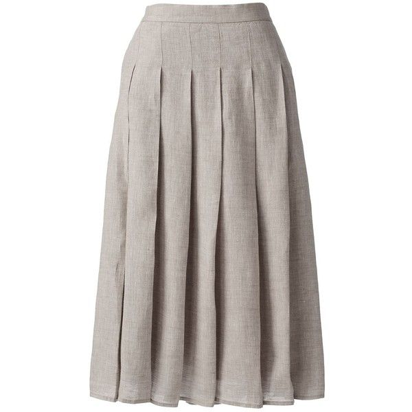 Lands' End Women's Petite Linen A-line Skirt ($69) ❤ liked on ...
