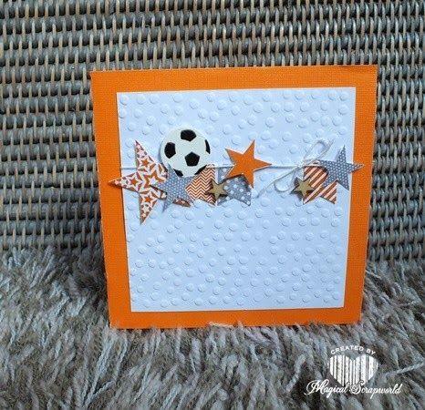 Magical Scrapworld: Hup Holland!! WK2014 football card. Stampin' Up!