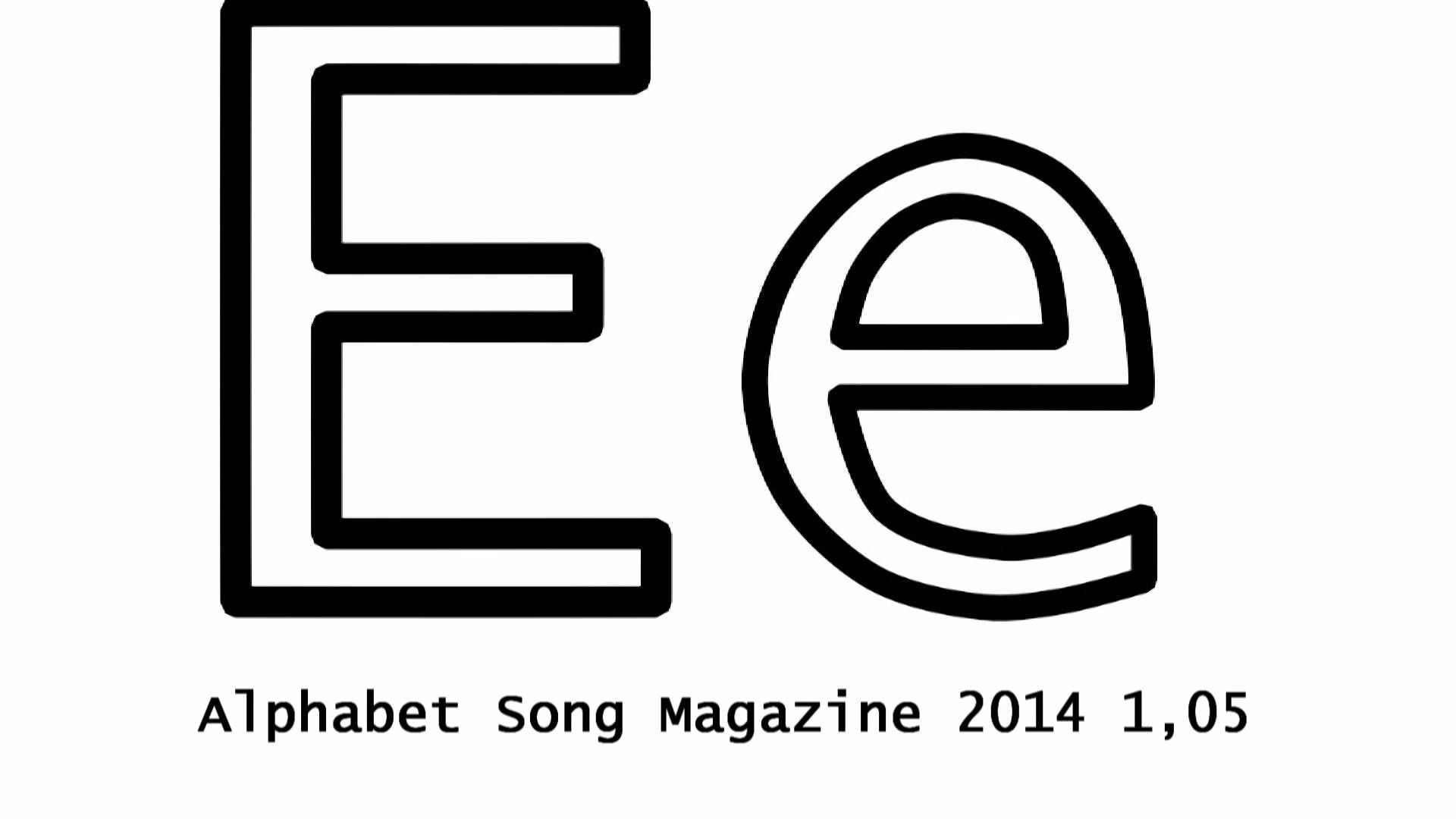Super Simple Alphabet Song And Letter E Worksheets  Letter E