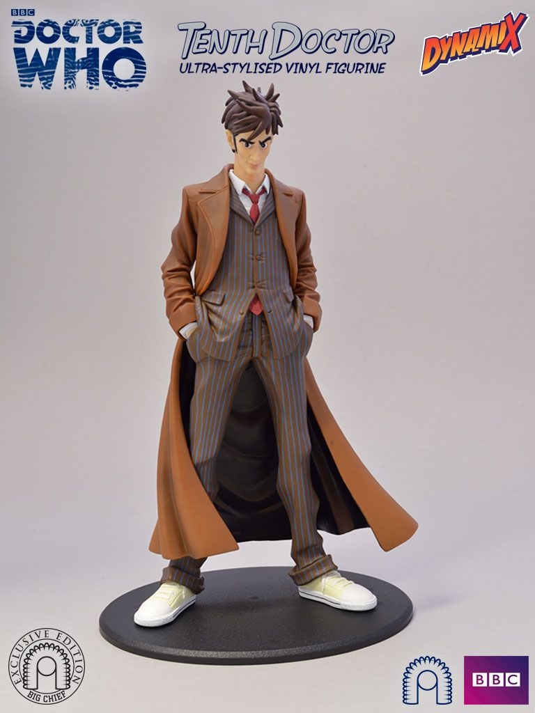 10th Doctor Dynamix Ultra Stylised Vinyl Figurine Exclusive Edition Doctor Who 10th Doctor Doctor Who 10