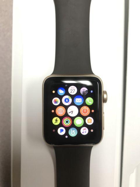 Apple Watch Series 2 42mm Gold Aluminum Case Cocoa Sport Band Mnpn2ll A Ebay Apple Watch Apple Watch Series Apple Watch Series 2
