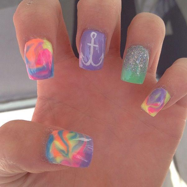 acrylic summer nails