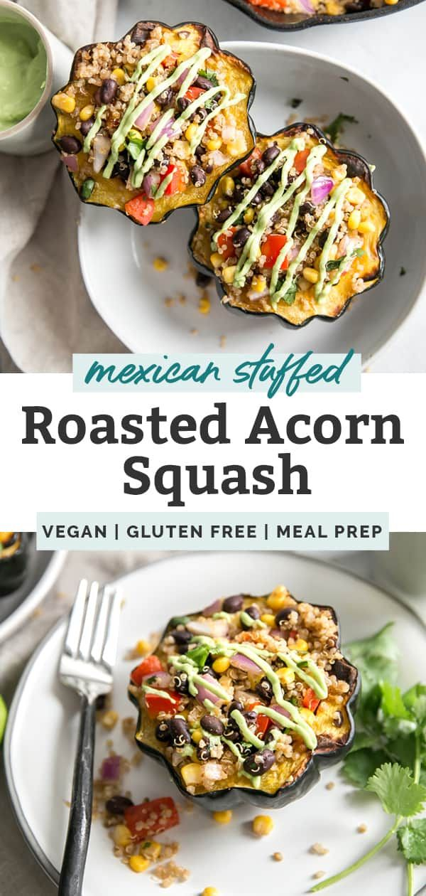 Mexican Stuffed Acorn Squash Vegan Gluten Free Recipe