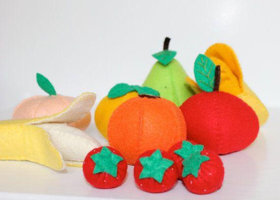 Felt Fruit Set. $30.00, via Etsy.