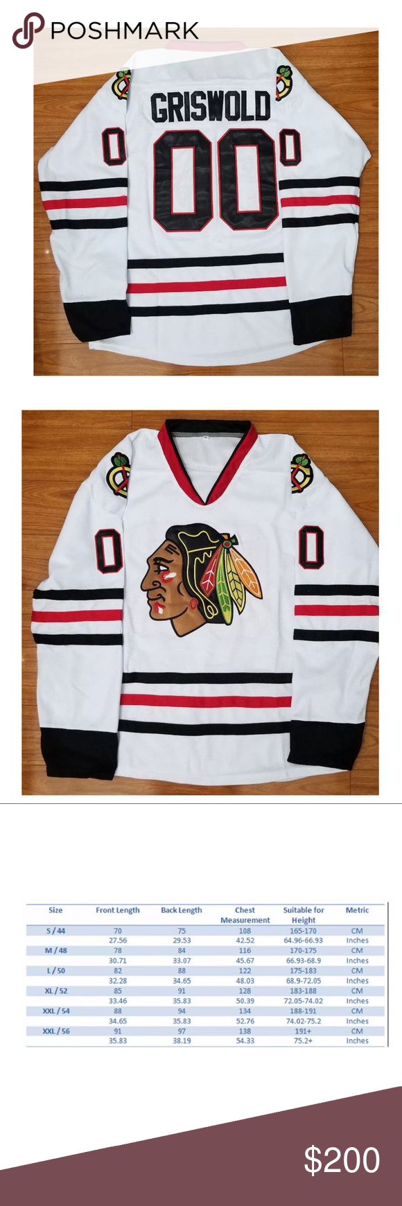 Usa Clark Griswold 00 Stiched Hockey Jersey We Have Sizes Small 2xl Comment Your Size And Refer To Sizing Chart In Hockey Jersey Jersey Long Sleeve Tees