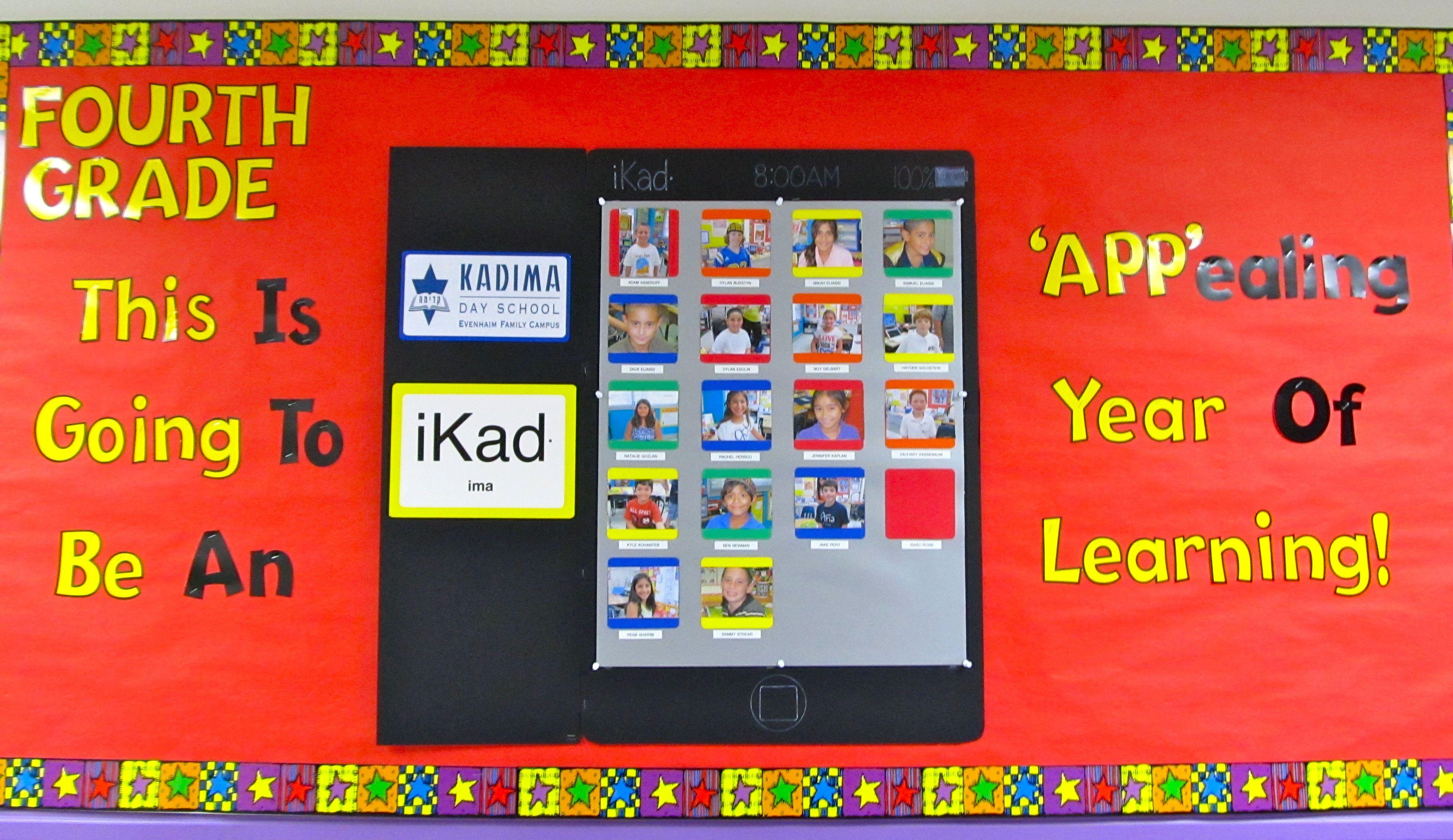 Ipad Back To School Bulletin Board Idea