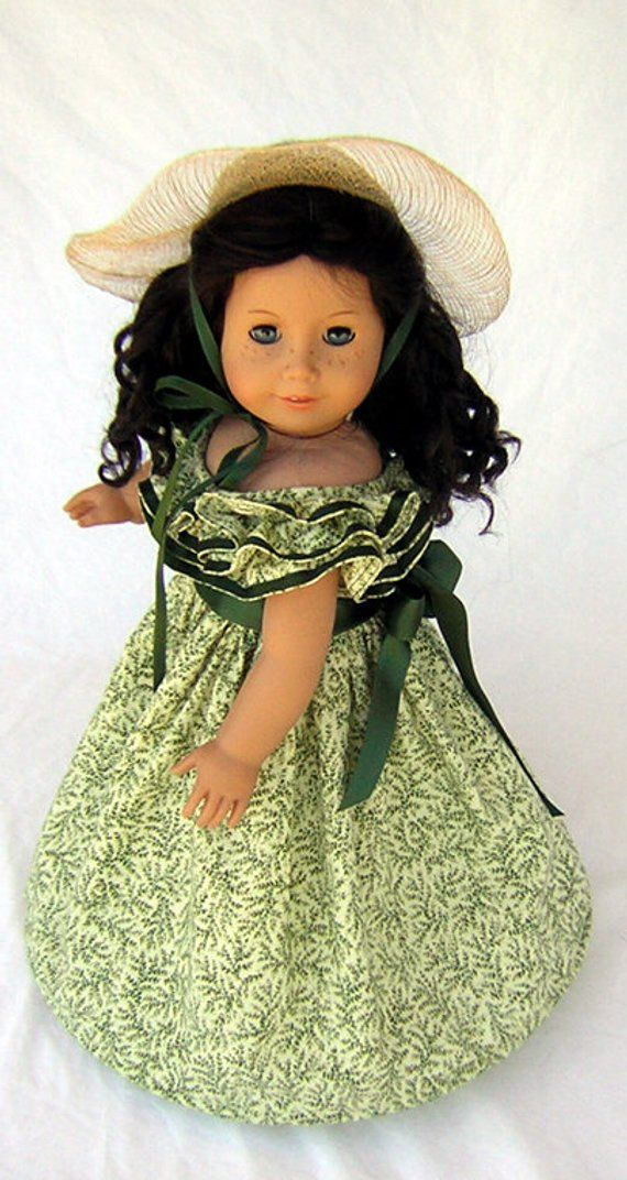 Gone with the Wind Dress Fits American Girl, Civil War Dress Fits American Girl, Scarlett O'Hara Dress for 18 Doll, Southern Belle Hoop #dressesfromthesouthernbelleera