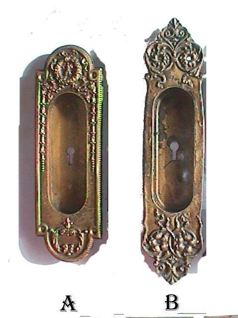 Pocket Door Hardware Antique Restoration Old Original Period Door Knobs  Drawer Pulls Handles Parts Victorian
