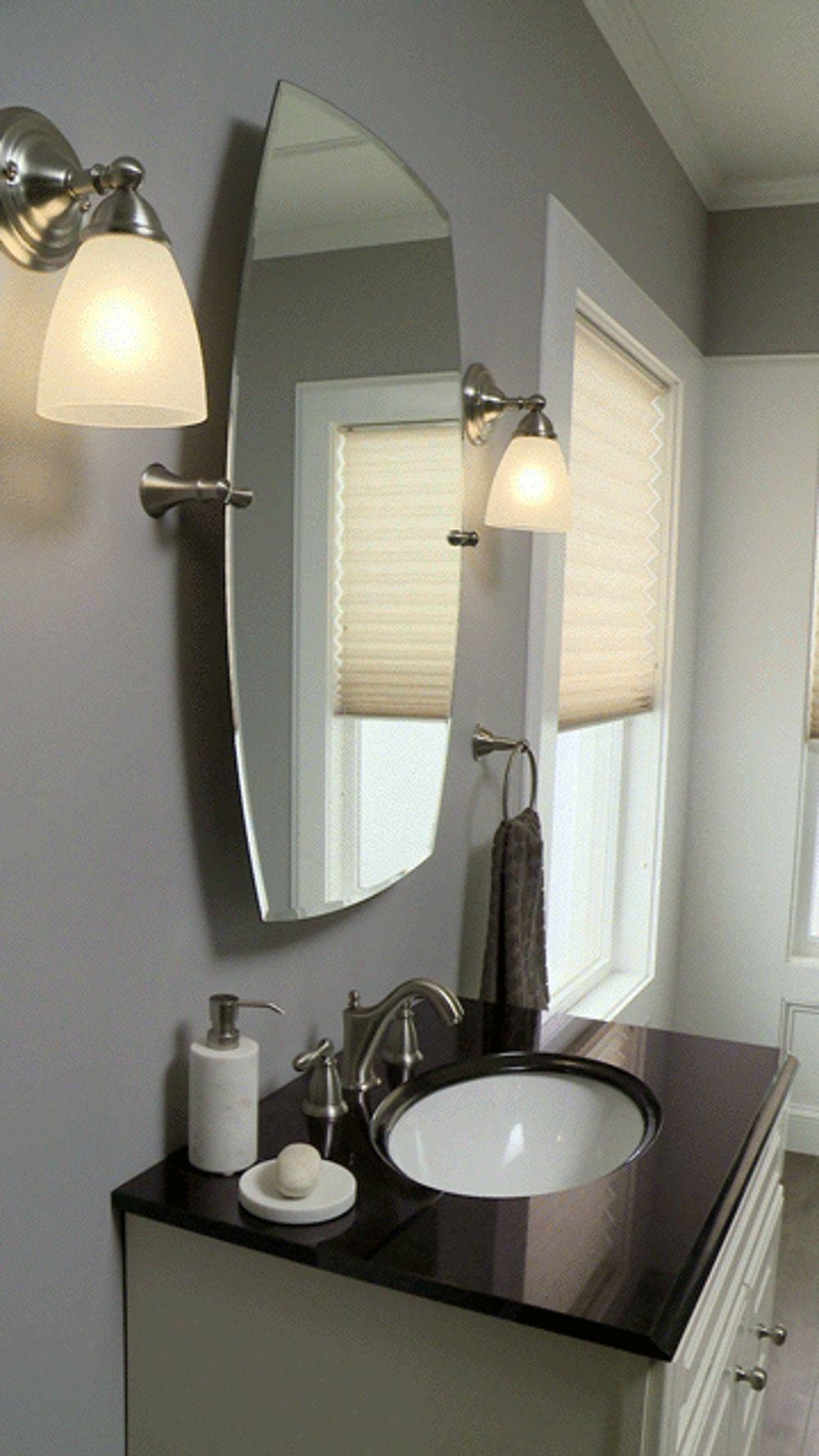 Rockcliff Brushed Nickel Mirror Bh5292bn Moen Brushed Nickel Mirror Diy Vanity Mirror Bathroom Mirror