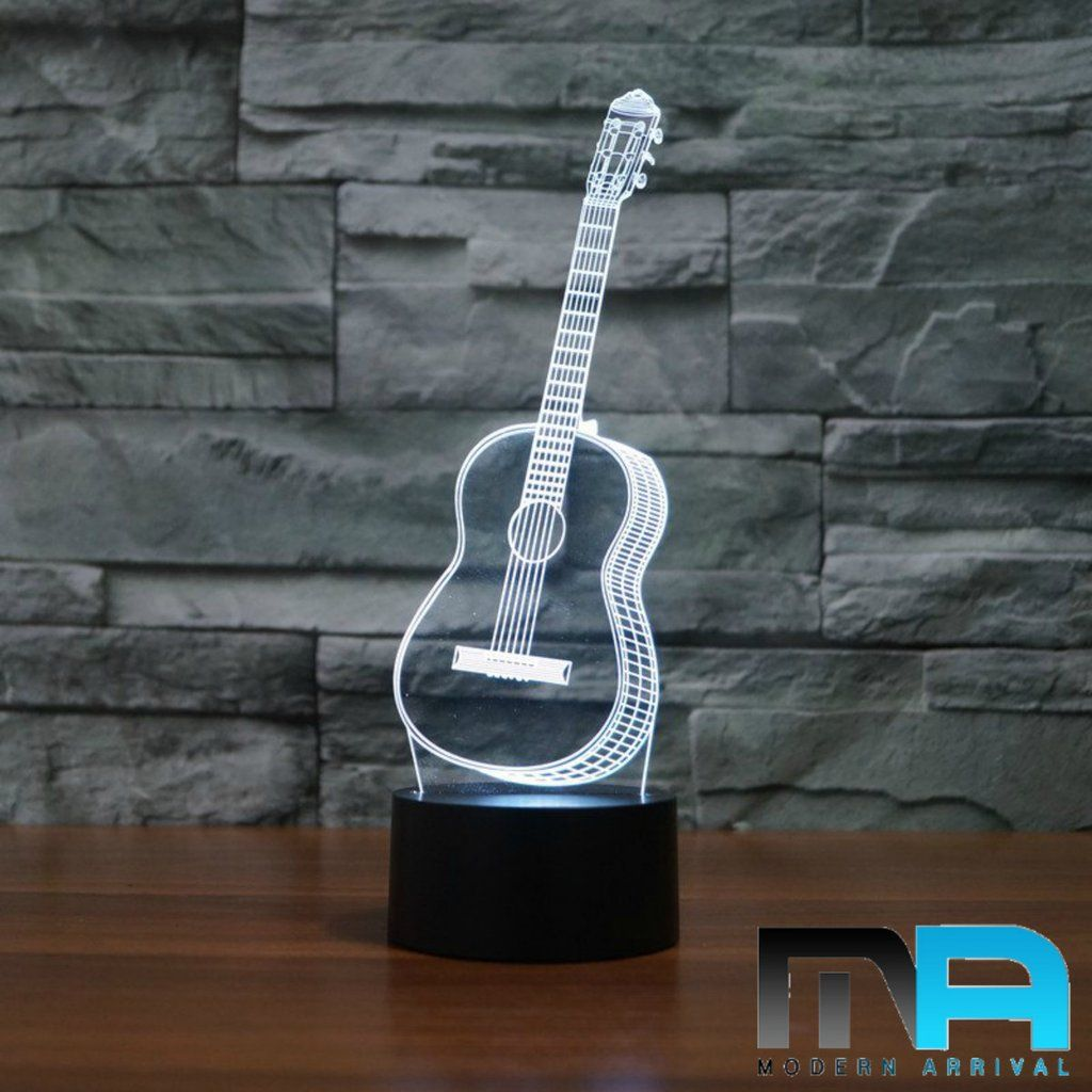 Led Classical Guitar Lamp In 2020 Unique Guitars Night Lamps Night Light