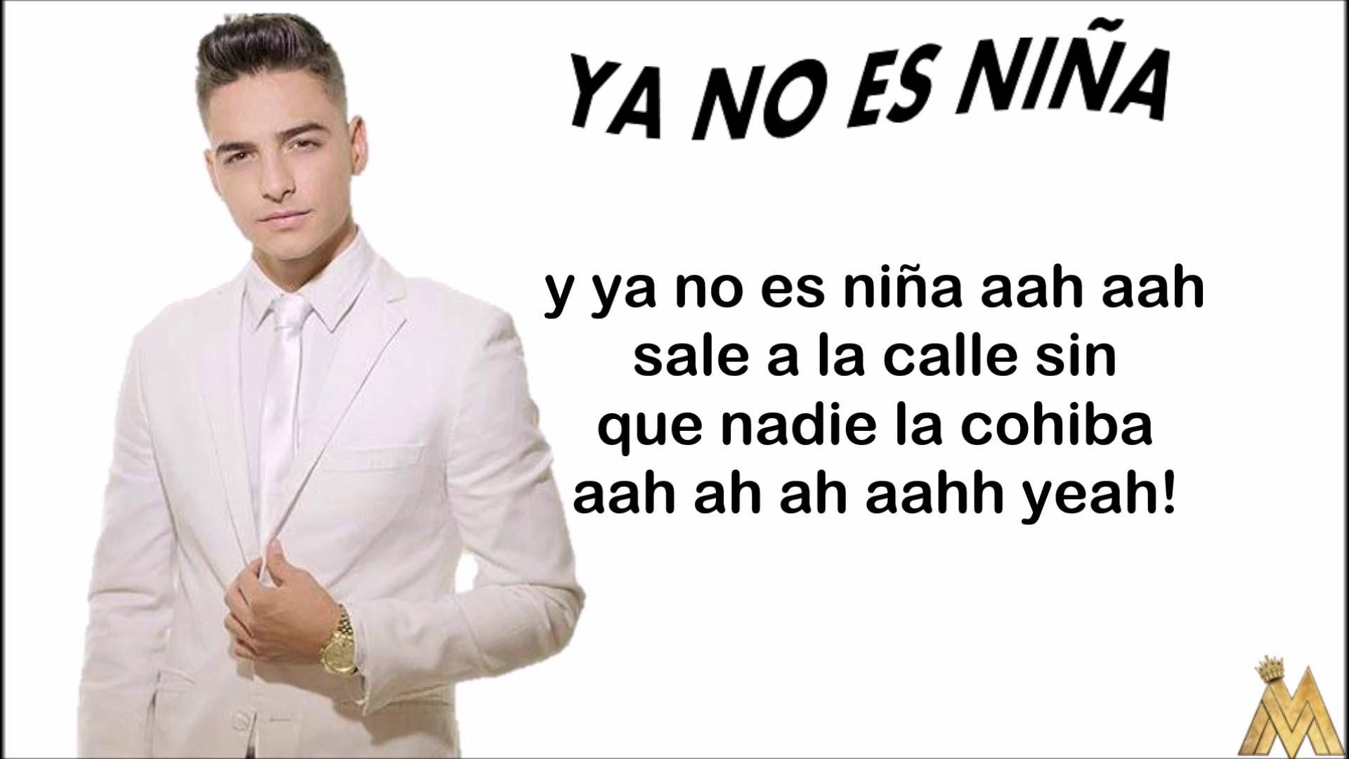 Ya No Es Niña Maluma Letra Lyric Lyrics Songs Music Songs