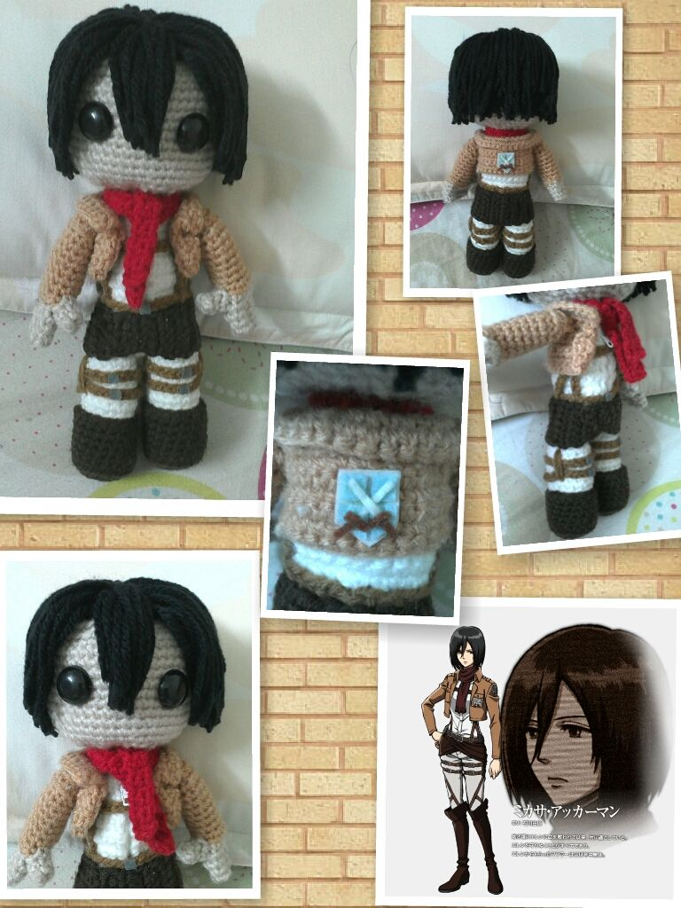 Mikasa Ackerman sackgirl doll (Attack on titan) by NVkatherine ...