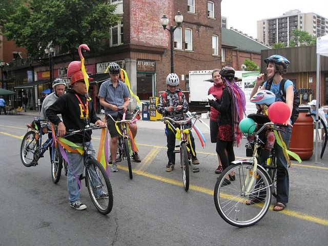 crazy accessories during Open Streets Hamilton