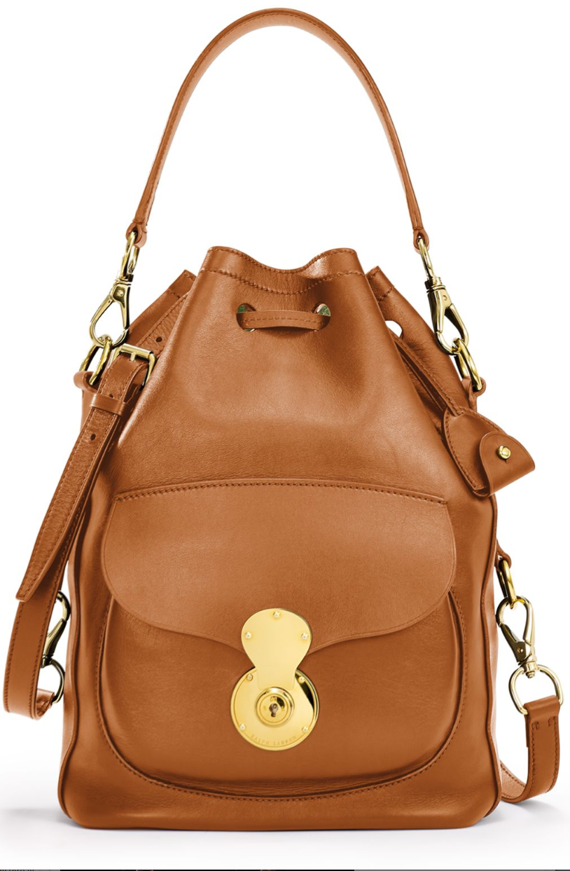 Modern And Sophisticated The Ralph Lauren Ricky Drawstring Bag Is Crafted In Italy From Ultra Soft Na Leather