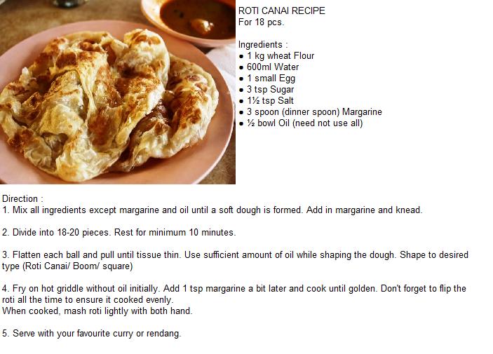 Resepi Roti Canai Recipes My Favorite Food Roti