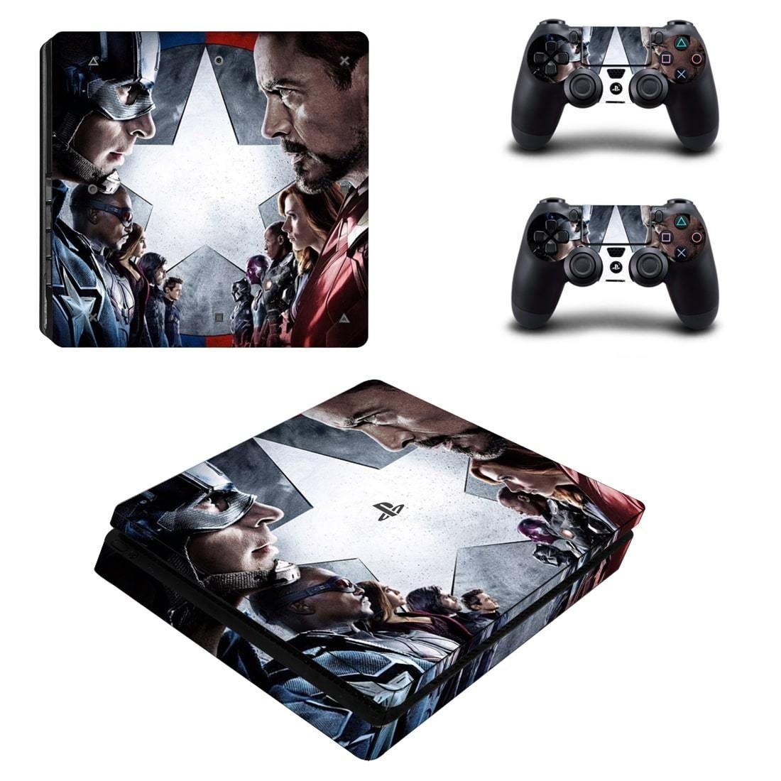 Marvel Captain America Civil War Characters PS4 Slim Skin