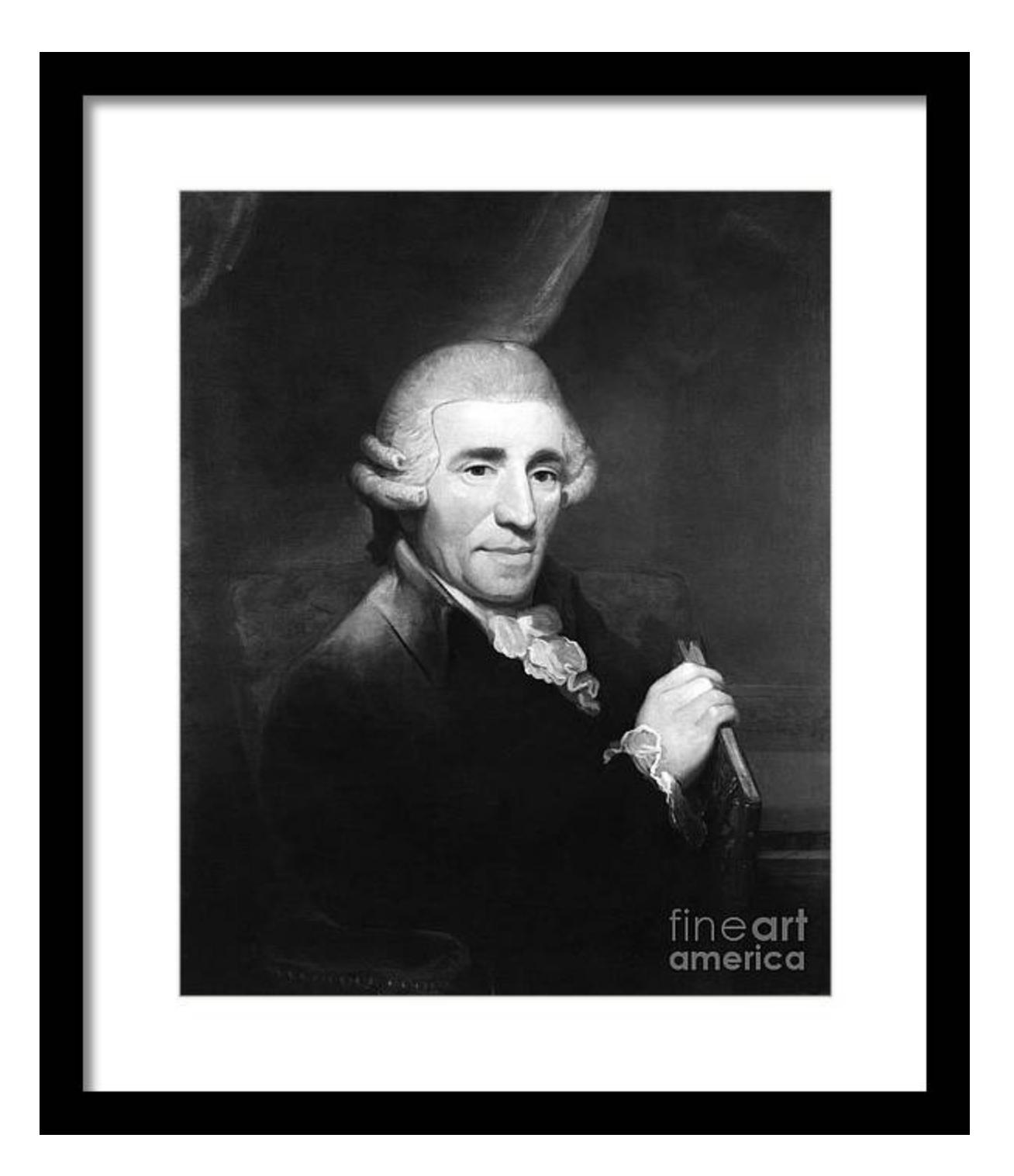 Franz Joseph Haydn Austrian Composer Framed Print By Omikron Framed Prints Haydn Print