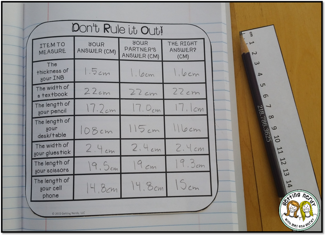 Fornecer prática com a medição utilizando um material de sala de aula atividade medição diversão