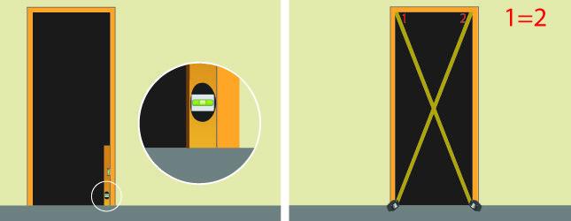 Vérifiez lu0027aplomb des montants du bloc-porte bloc porte pose - changer serrure porte interieure