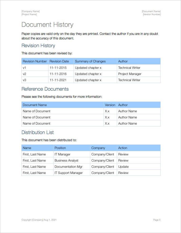 Sop Template Apple Iwork Pages Document History Sop Pinterest