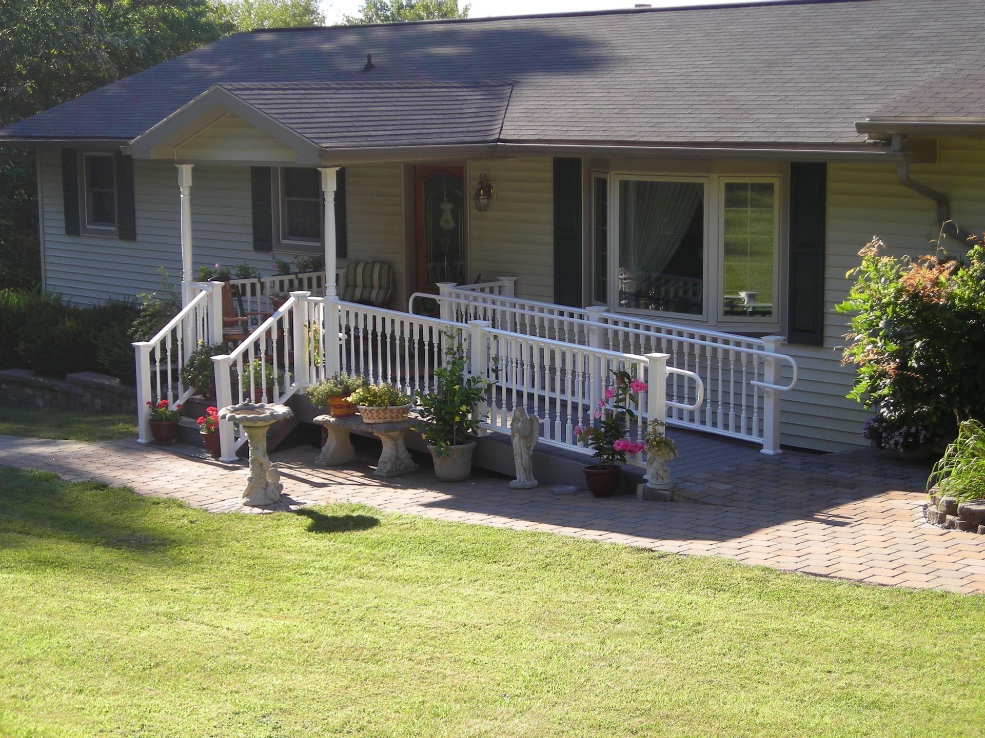 Porches Project Five Handicap Ramp Pocono Modular Homes Mark