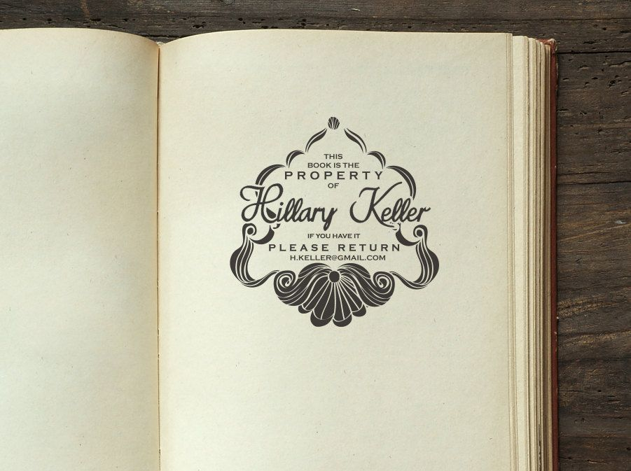 knob handle Bookplate From the Library of Stamp