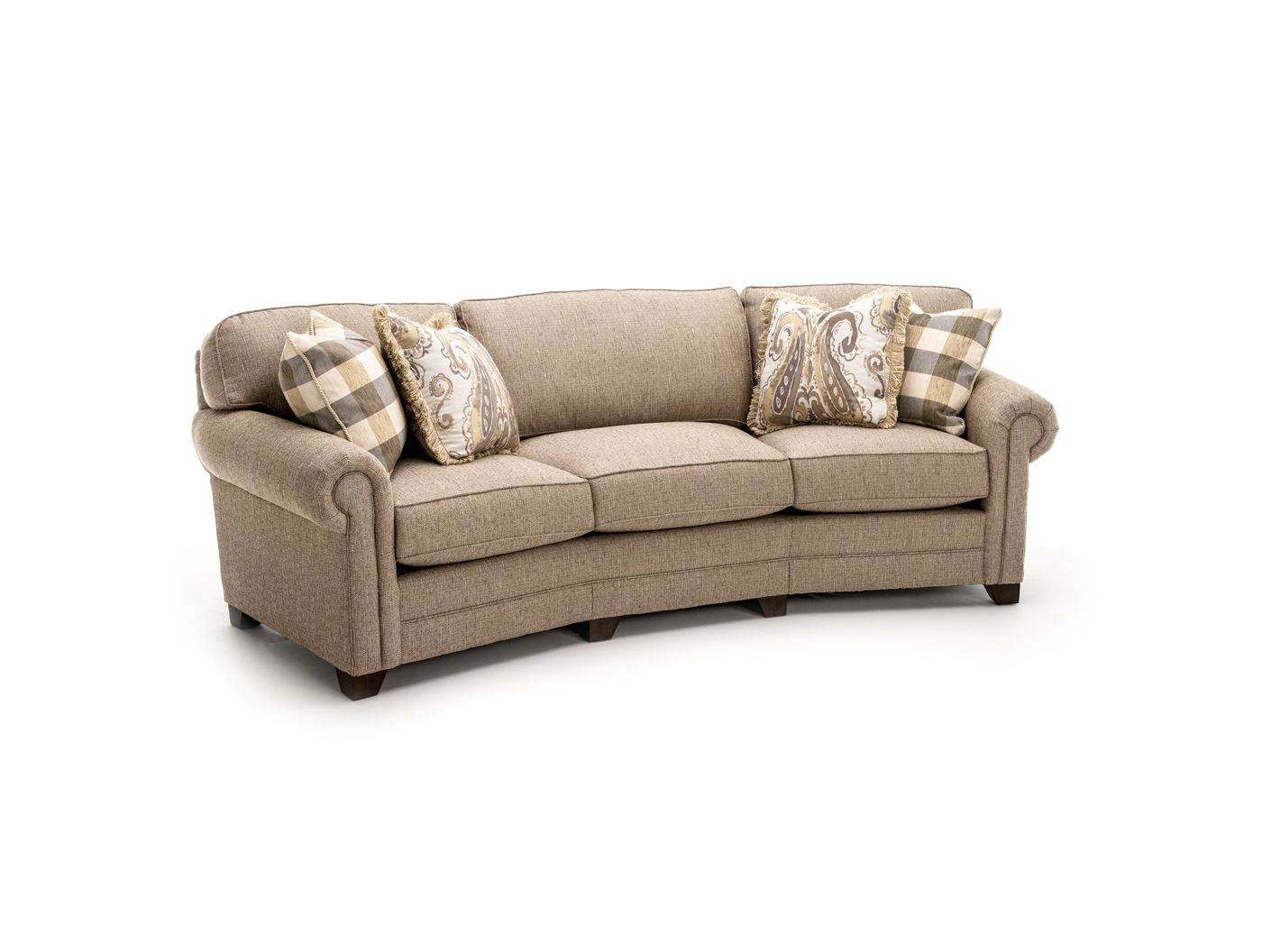 bentley sofa by king hickory stretch leather slipcover conversation steinhafels