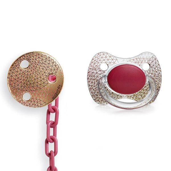Chupete Fisiologico Y Broche Haute Couture Personalizable Suavinex
