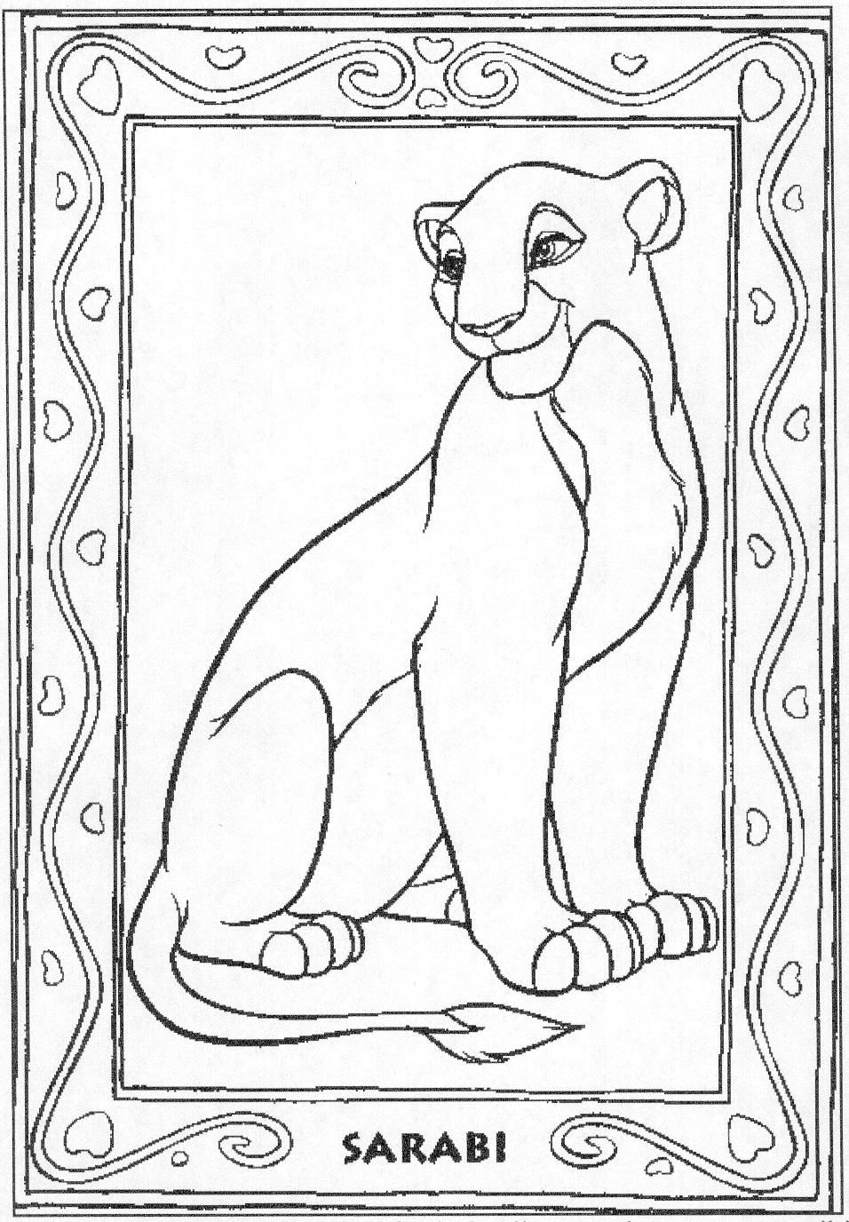 Disney coloring pages lion king lion king story sack pinterest
