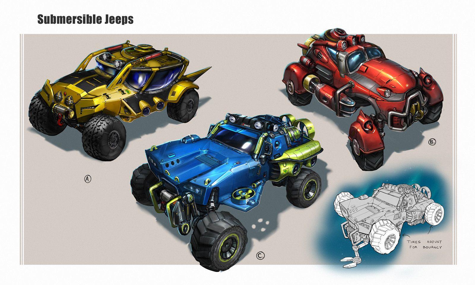 Submarine Jeeps Brandon Jones Helmet Concept Jeep Brandon Jones