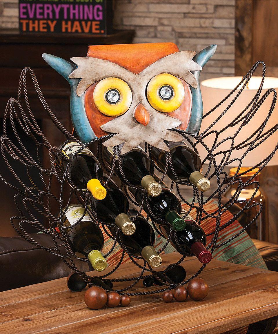 Love this Owl Wine Bottle Holder by Evergreen on #zulily! #zulilyfinds