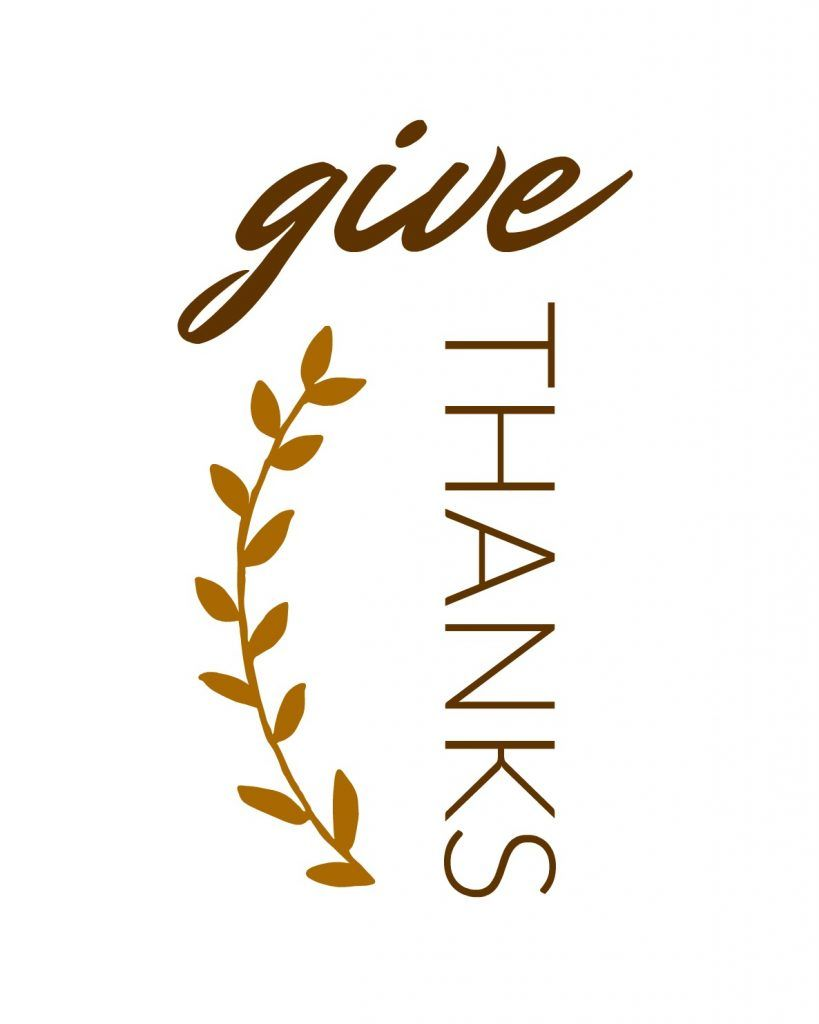 image regarding Give Thanks Printable identified as Offer you Owing Printable Cricut Thanksgiving do-it-yourself, Offer