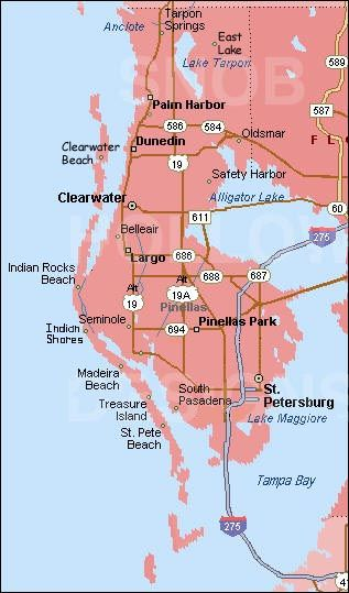 The wonderful 35 x 11 mile peninsula known as Pinellas County with