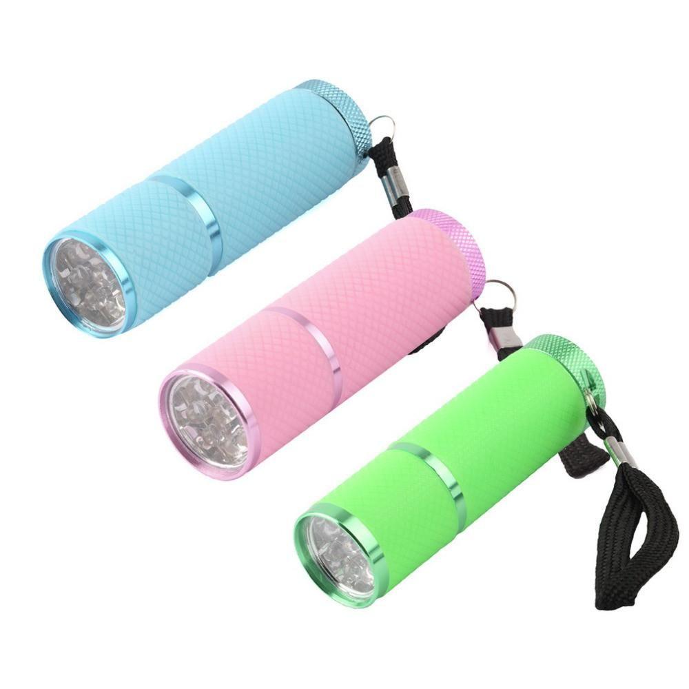 Portable Mini 9 LED Nail Dryer Curing led gel lamp Flashlight Torch ...