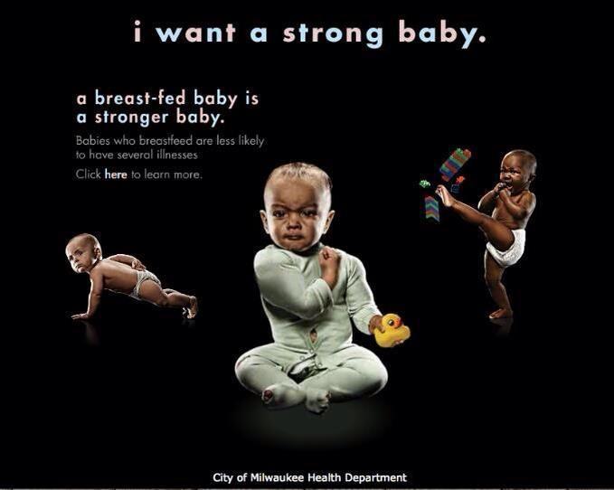 Paa La City Of Milwaukee Health Department Breastfeeding Poster
