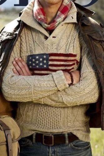 cd6e5d8b1498 Polo Ralph Lauren Flag Sweater Love this look! Wolle Kaufen, Kleidung,  Stricken,