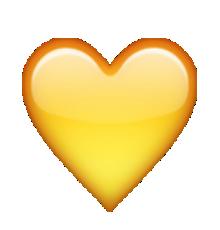 Ios Emoji Yellow Heart Ios Emoji Pink Heart Emoji Emoji