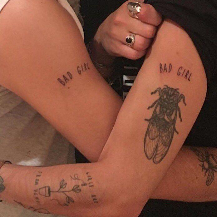 a6154c3ecab63 Mitch Grassi 'BAD GIRL' tattoo. | tattoos. | Girl tattoos, Tattoos ...