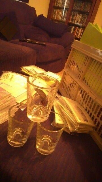 Aloe gel shot glass
