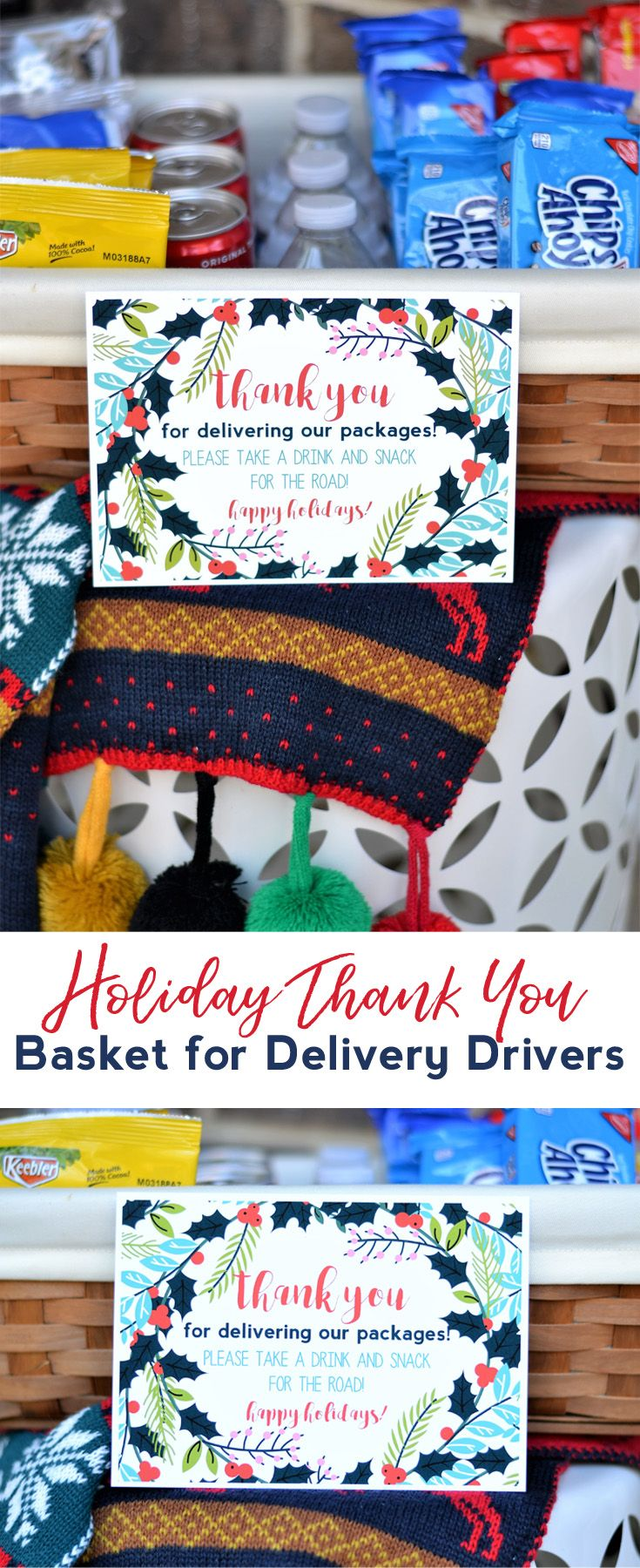 Holiday Thank You Basket for Delivery Drivers | burlap+blue Craft ...