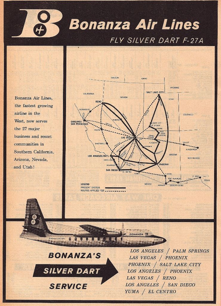 Bonanza Air Lines (1959) | Airline Route Maps | Republic ... on air florida route map, southwest airtran route map, southern airways route map, british airways route map, south west route map, britannia airways route map, south west airlines seat map, braniff international route map, south west airline from seattle map, southwest airlines flight routes map,