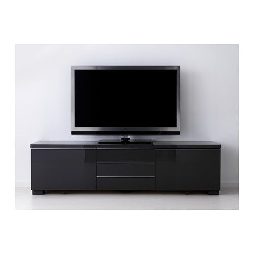 Besta Burs Banc Tv Brillant Gris Ikea Meubles Tv Bench Ikea