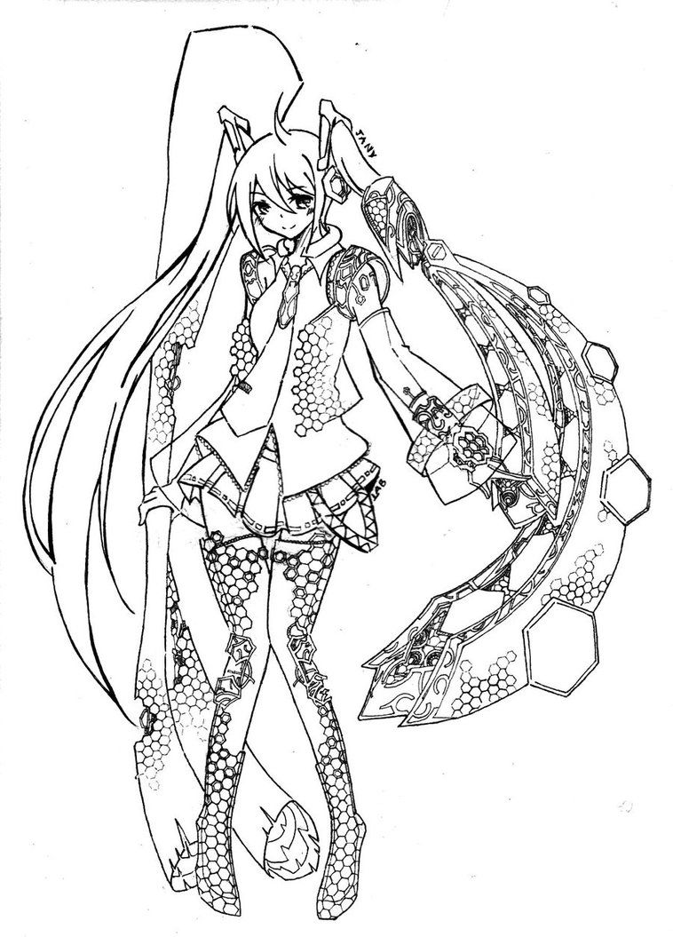 Vocaloid Miku Android By Lab Sama D34n9rl Jpg 758 1055 Hatsune Miku Coloring Pages