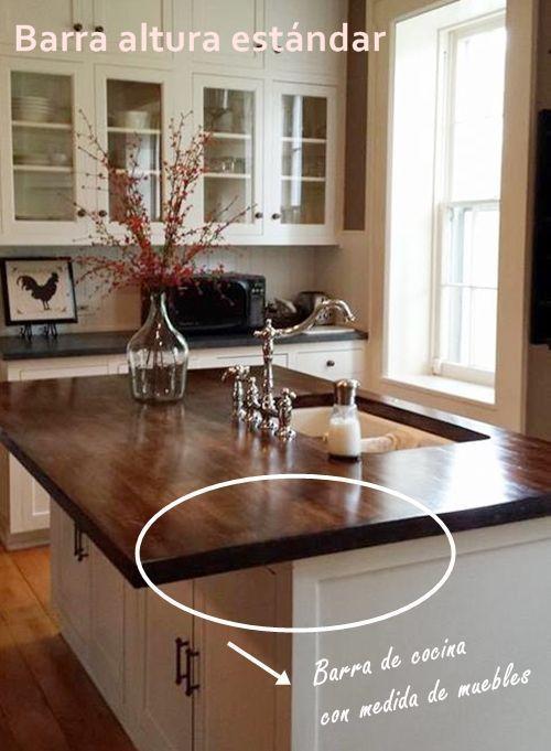 Barras de cocina qué altura es la correcta 5 Cocinas Pinterest - barras de cocina