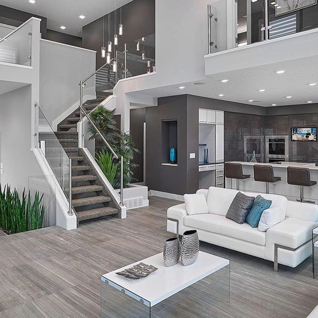 A Modern Open Concept By Prorail Systems Home Interiordesign F4f House Design House Modern House Design Open concept modern house