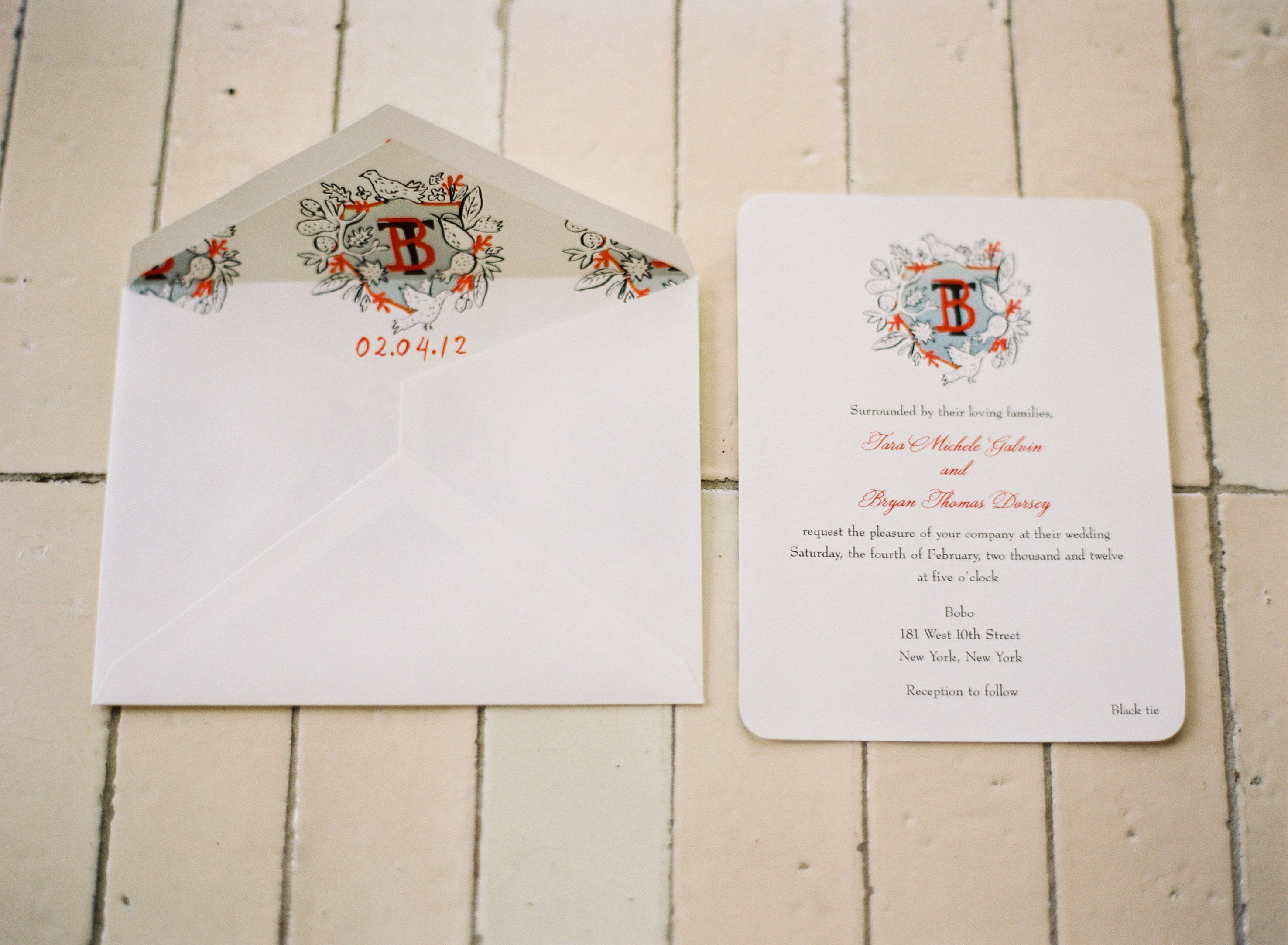 size of response cards for wedding invitations%0A Crest by Happy Menocal what a fabulous idea for envelope an liner