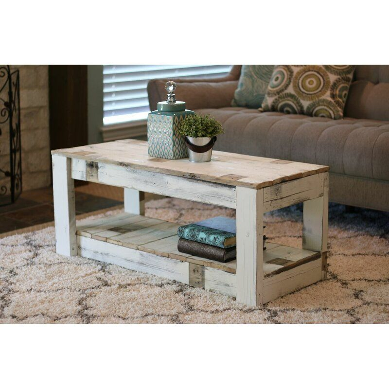 Easthampton solid wood coffee table with storage in 2020